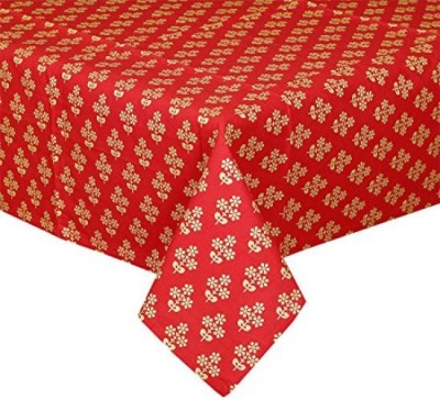 CPM HANDLOOM Red, Gold Table Linen Set