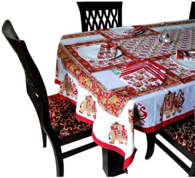 Kismat Collection Red Table Linen Set