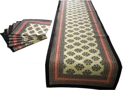 Craftuno Black Table Linen Set