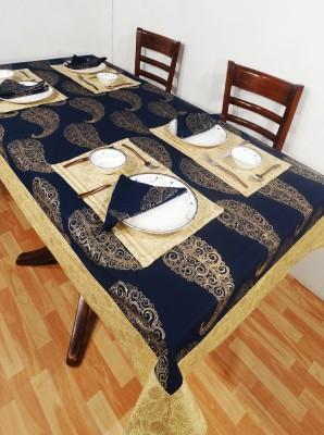 Heritagefabs Blue Organic Cotton Table Linen Set