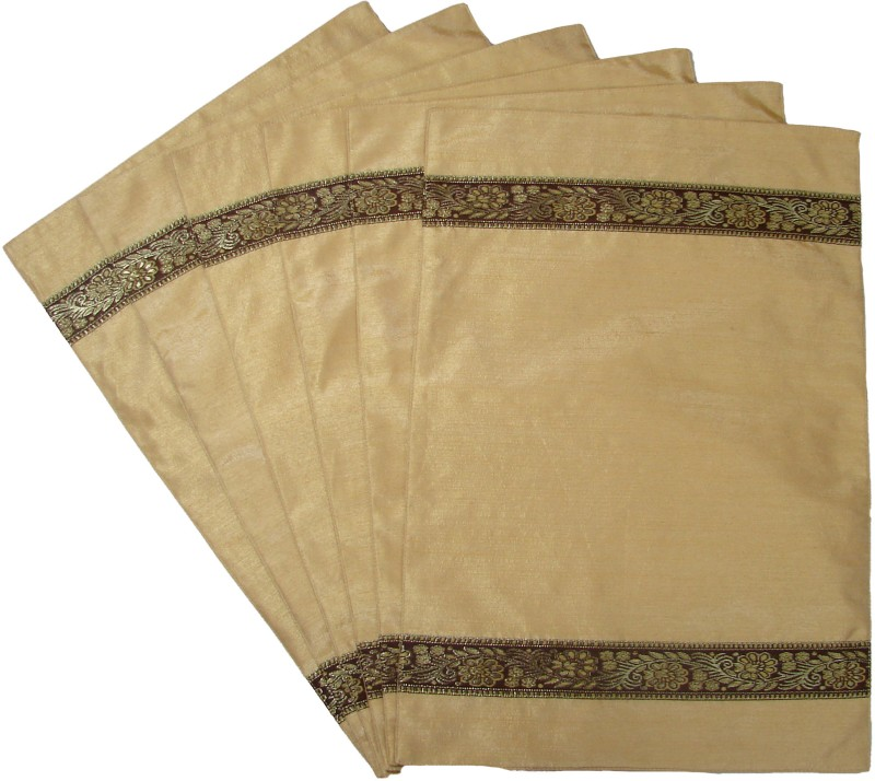 Home Shine Beige Polyester Table Linen Set(Pack of 6)