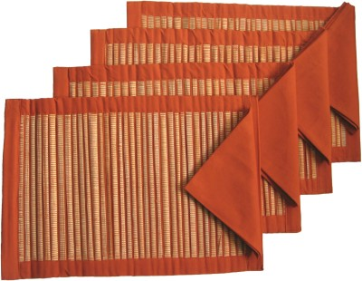 Rhapsody Decor Orange Organic Cotton Table Linen Set