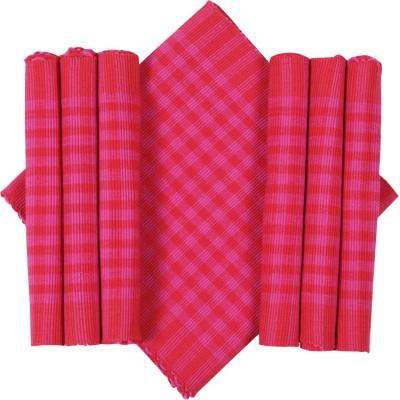 Dhrohar Pink Organic Cotton Table Linen Set(Pack of 7)