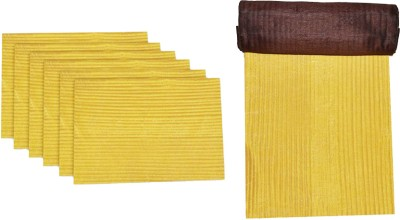 meSleep Gold, Brown Silk Table Linen Set