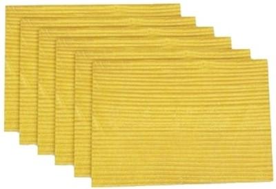 meSleep Yellow Silk Table Linen Set(Pack of 6)