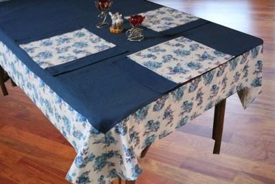 Dekor World Blue Organic Cotton Table Li...