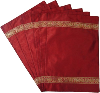 Home Shine Maroon Polyester Table Linen Set