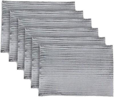 meSleep Grey Silk Table Linen Set(Pack of 6)