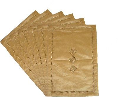 Home Shine Beige Velvet Table Linen Set