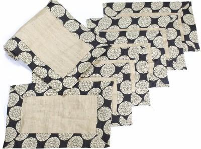 Aksobha Brown, Black Table Linen Set(Pack of 7)