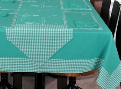 elan Blue Organic Cotton Table Linen Set