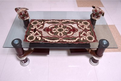 Nonch Le Maroon, Red, Beige, Brown Polyester Table Linen Set(Pack of 3) at flipkart