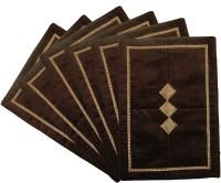 Home Shine Brown Velvet Table Linen Set(Pack of 6)