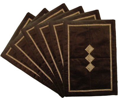 Home Shine Brown Velvet Table Linen Set