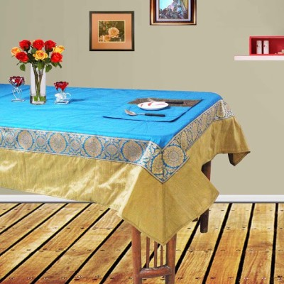 Dekor World Blue, Gold Polyester Table Linen Set