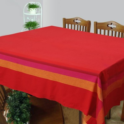 Dhrohar Solid 4 Seater Table Cover(Red, Cotton)