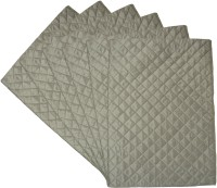 Home Shine Rectangular Pack of 6 Table Placemat(Grey, Polyester)