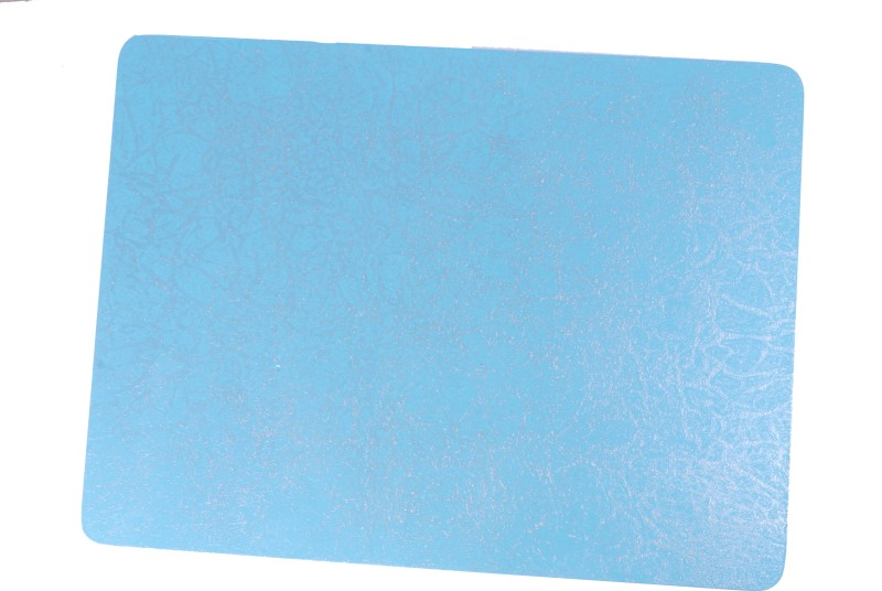 Giftz N More Rectangular Pack of 1 Table Placemat(Blue, Silver, Wood, MDF)