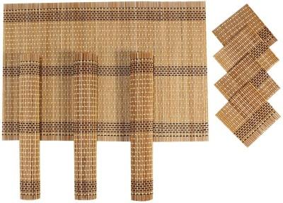 Yun Hai Rectangular Pack of 4 Table Placemat(Brown, Natural Bamboo) at flipkart