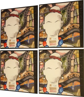 Ganges Art Gallery Square Pack of 4 Table Placemat