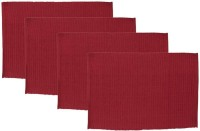 Elan Rectangular Pack of 4 Table Placemat(Red, Cotton)