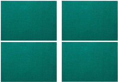 Rajrang Rectangular Pack of 4 Table Placemat(Light Green, Jute) at flipkart