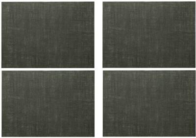 Rajrang Rectangular Pack of 4 Table Placemat(Grey, Jute) at flipkart