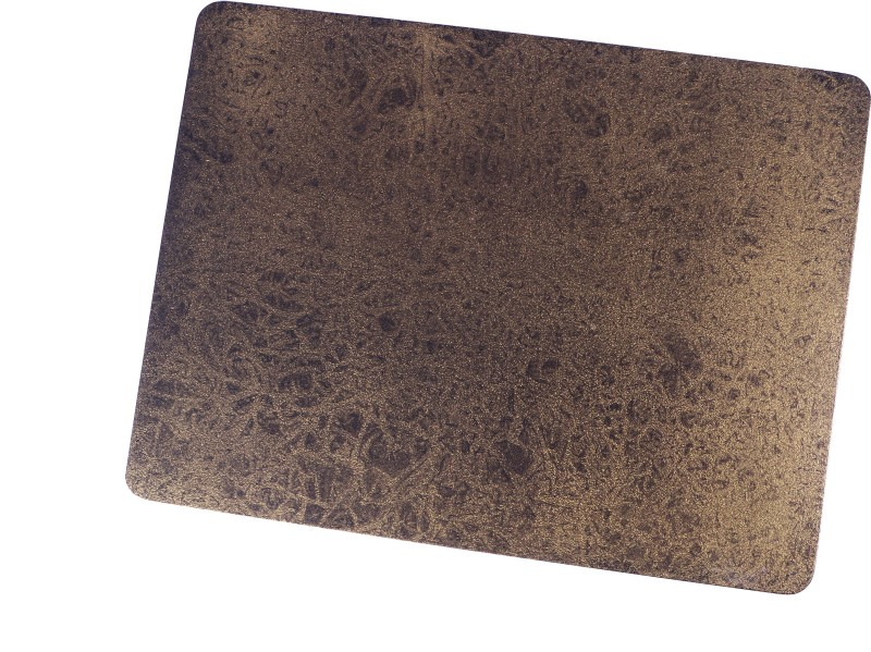 Giftz N More Rectangular Pack of 1 Table Placemat(Black, Gold, Wood, MDF)