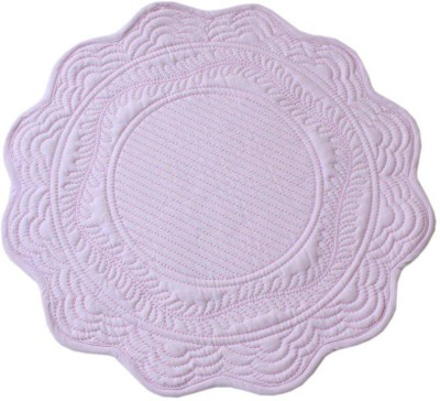 Sanaa Round Pack of 1 Table Placemat(Pink, Cotton) at flipkart