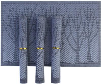 NINGXIN Rectangular Pack of 4 Table Placemat(Purple, PVC, Polyester) at flipkart