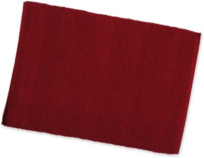 Dhrohar Rectangular Pack of 1 Table Placemat(Maroon, Cotton)