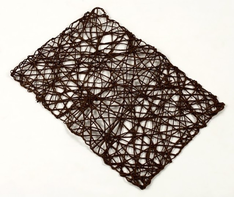 Foyer Square Pack of 6 Table Placemat(Brown, Linen)