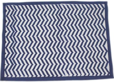 Raghuraj Lifestyle Rectangular Pack of 6 Table Placemat(Blue, Cotton)