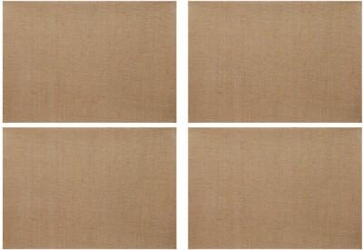 Rajrang Rectangular Pack of 4 Table Placemat(Beige, Jute) at flipkart