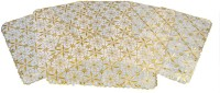 Kuber Industries Rectangular Pack of 6 Table Placemat(Gold, Plastic)
