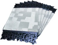 Dimensions PVC Medium Changing Mat Dimensions Laser Edged Koskin Leather Mats -Sheer Silver(Silver)