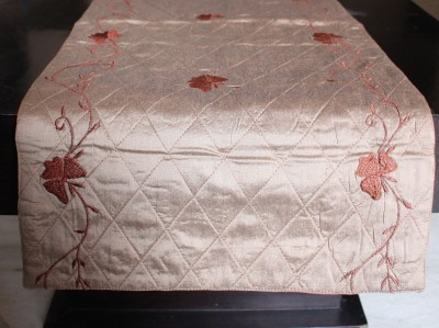 Ishq Mushq Brown 129 cm Table Runner