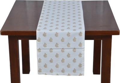 Home Boutique White, Gold 180 cm Table Runner