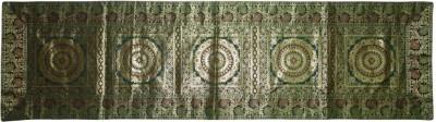 Lal Haveli Green 40.64 cm Table Runner(Silk) at flipkart