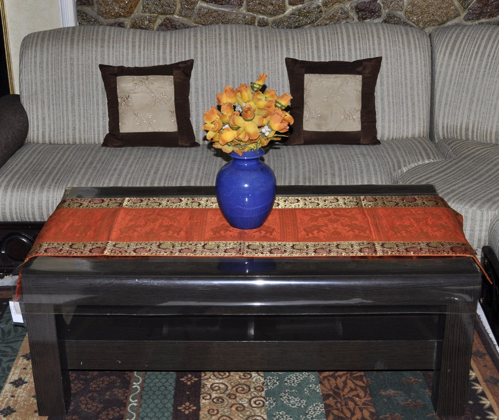 Lal Haveli Orange 152.4 cm Table Runner