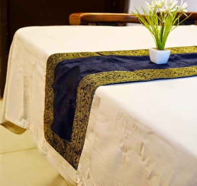 Indha Craft Blue 182.9 cm Table Runner