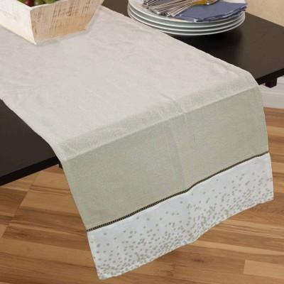 R home Beige 40 cm Table Runner(Cotton)