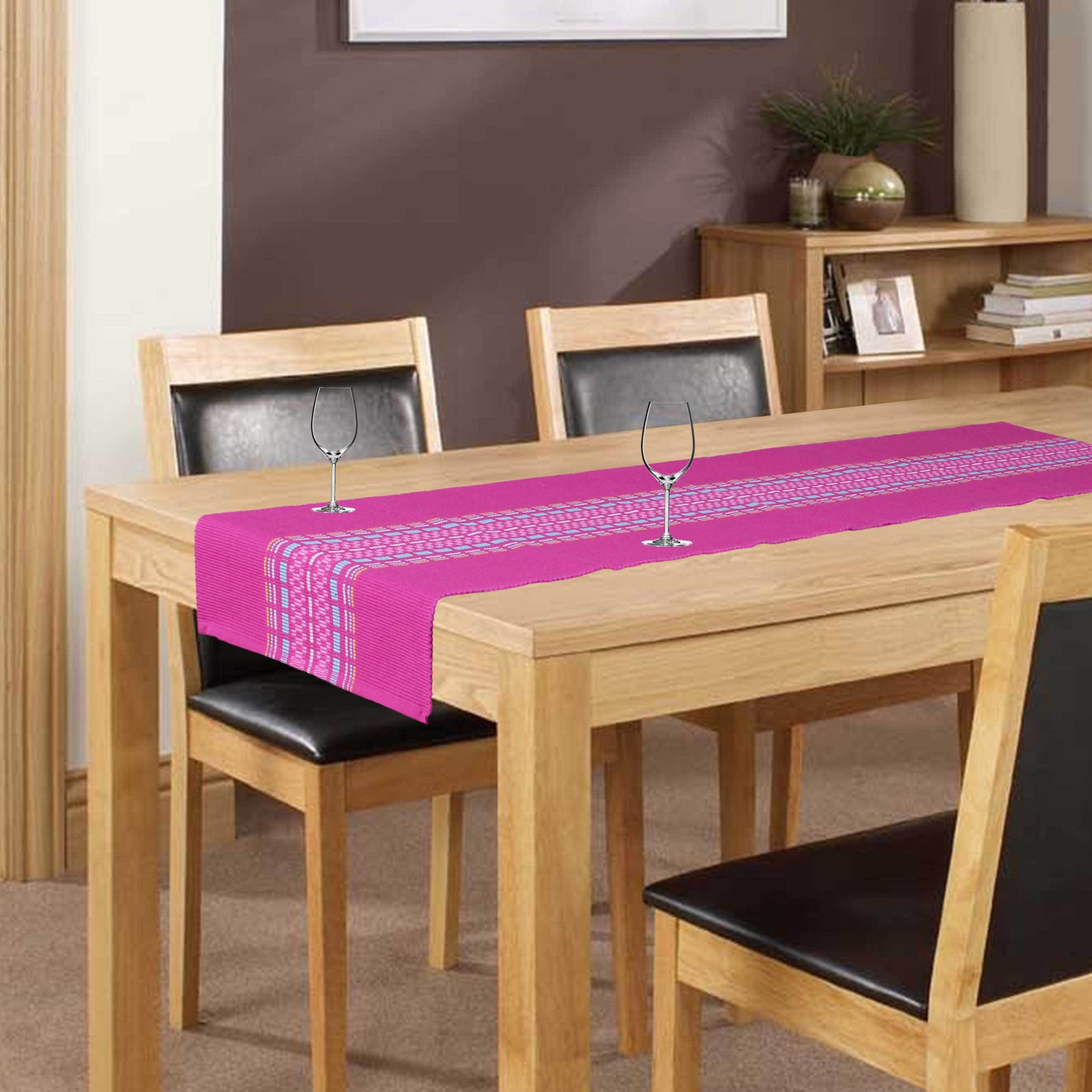 Elan Pink 140 cm Table Runner