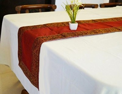 Indha Craft Maroon 182.9 cm Table Runner