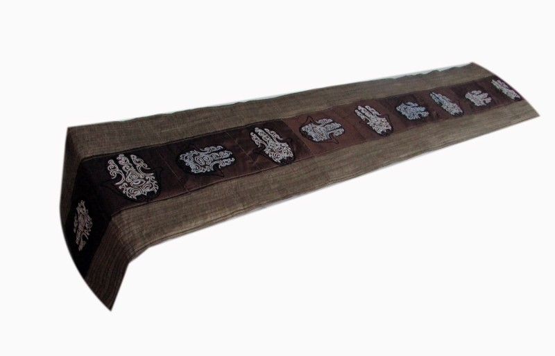 Indha Craft Multicolor 182.9 cm Table Runner(Silk)