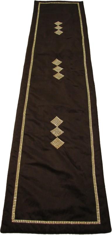 Home Shine Brown 90 cm Table Runner(Velvet)