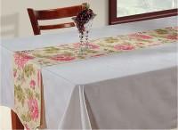 Swayam Grey, Pink, Beige 182.88 cm Table Runner(Cotton)
