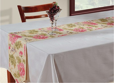 Swayam Grey, Pink, Beige 182.88 cm Table Runner