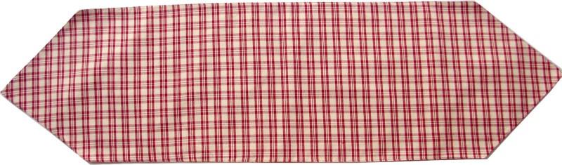 Homeblendz Red, White 132 cm Table Runner(Cotton)