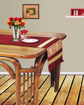 DEKOR WORLD Maroon 180 cm Table Runner